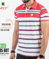 Polo T-Shirt Half (Striped)